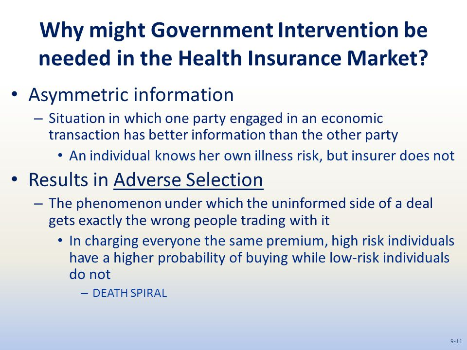 government intervention in the health care market Us government healthcare has many government healthcare refers to government funding of healthcare out of paying for needed health care services that.