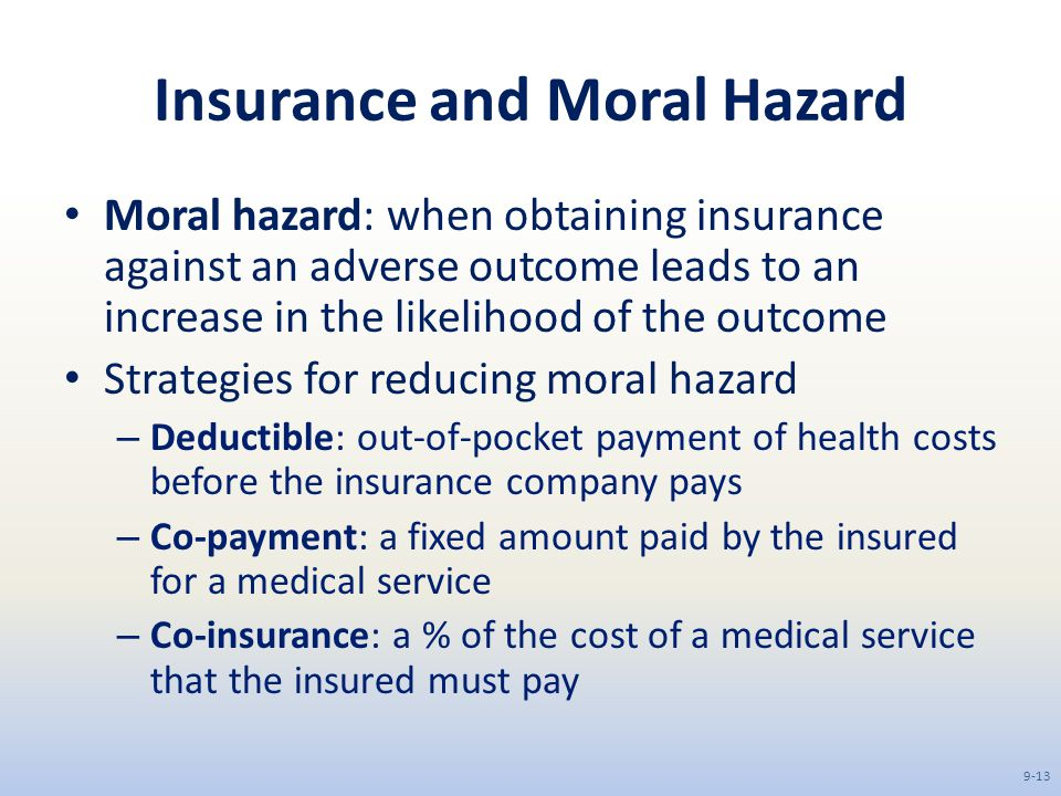 co pay and moral health 31 ratings course 2 of 4 in the specialization the business of health care   cost sharing arrangements like deductibles, co-payments or co-insurance moral .
