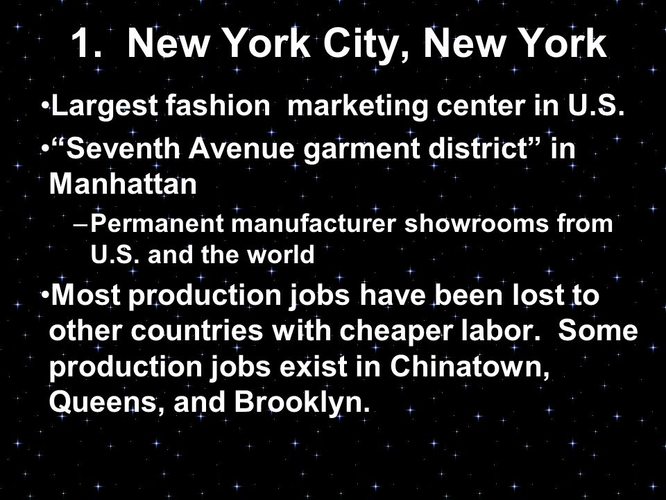 Fashion Centers Designers And Market Categories