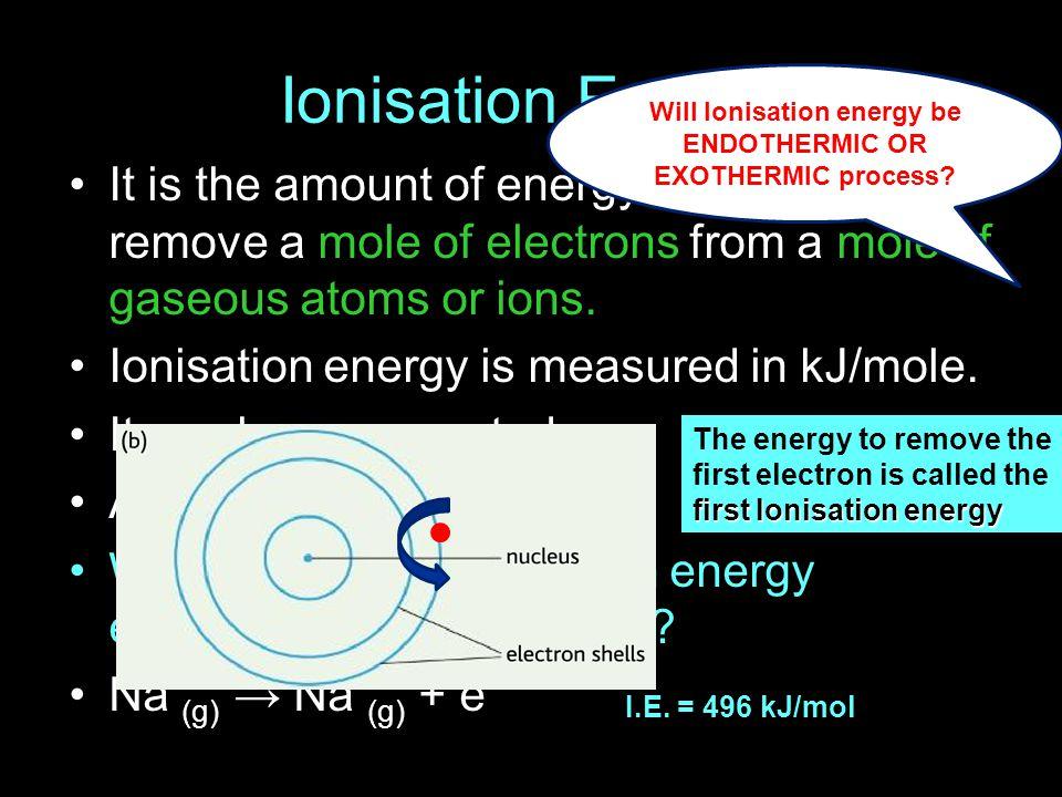 Second Ionization Energy Of Sodium Ace Energy