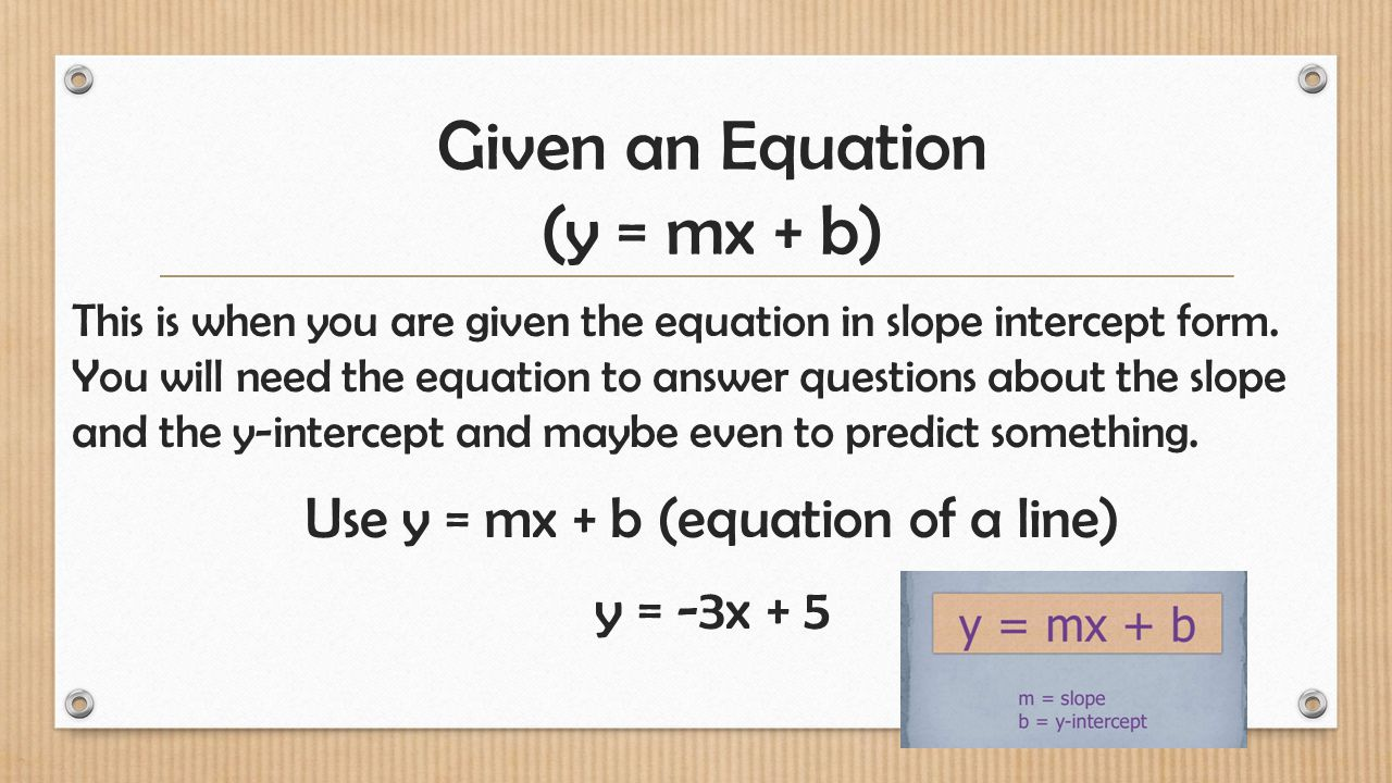 Four representations of equations of lines from ppt download 5 given falaconquin