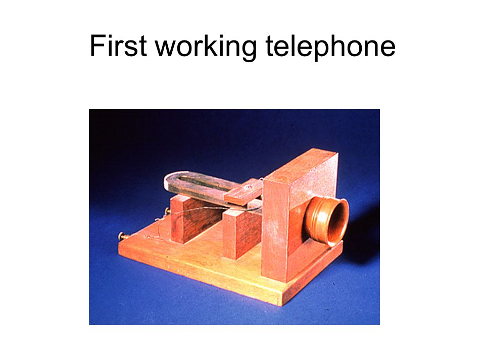 First working telephone