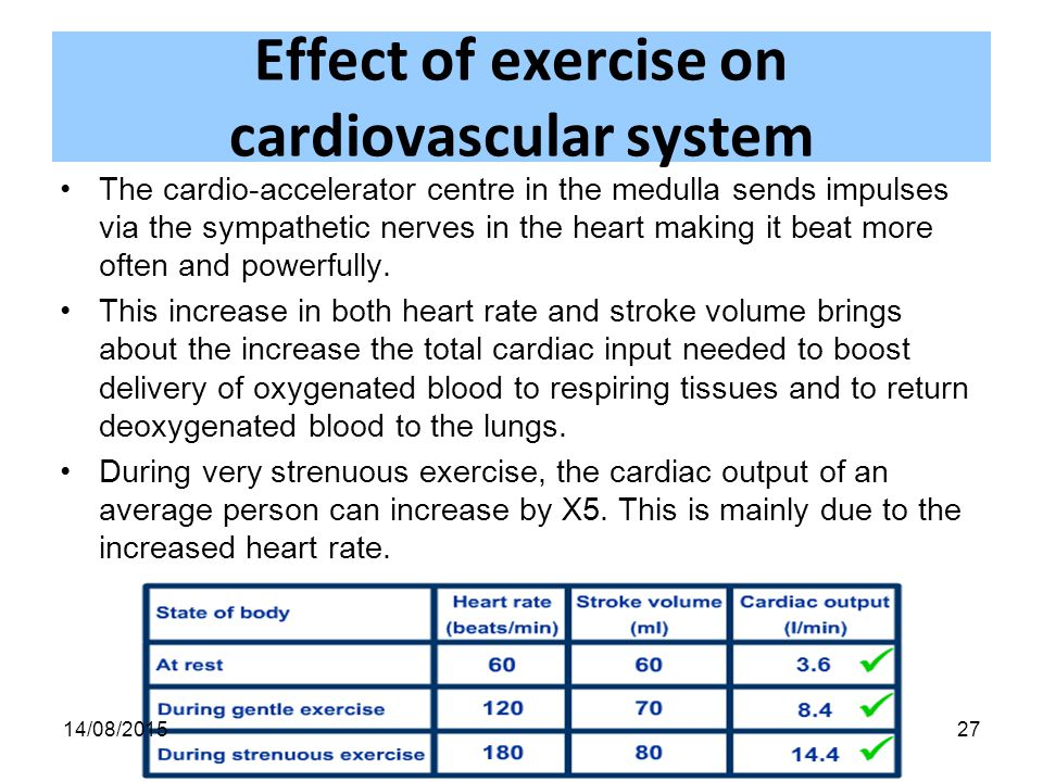 Effects on Heart Rate Before and After Exercise