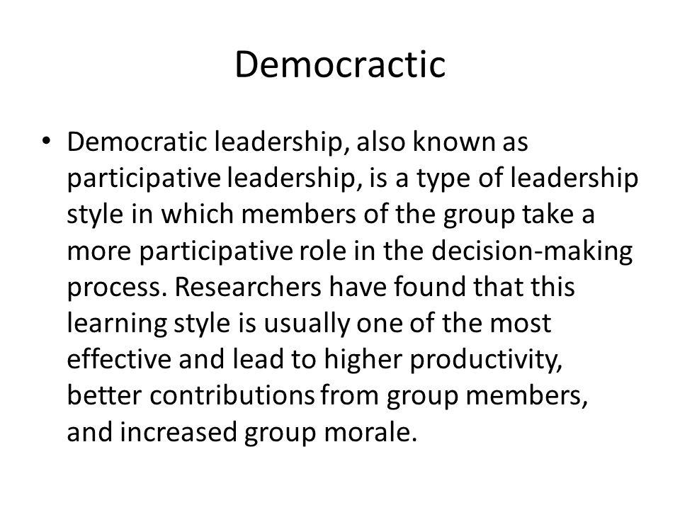 Democractic