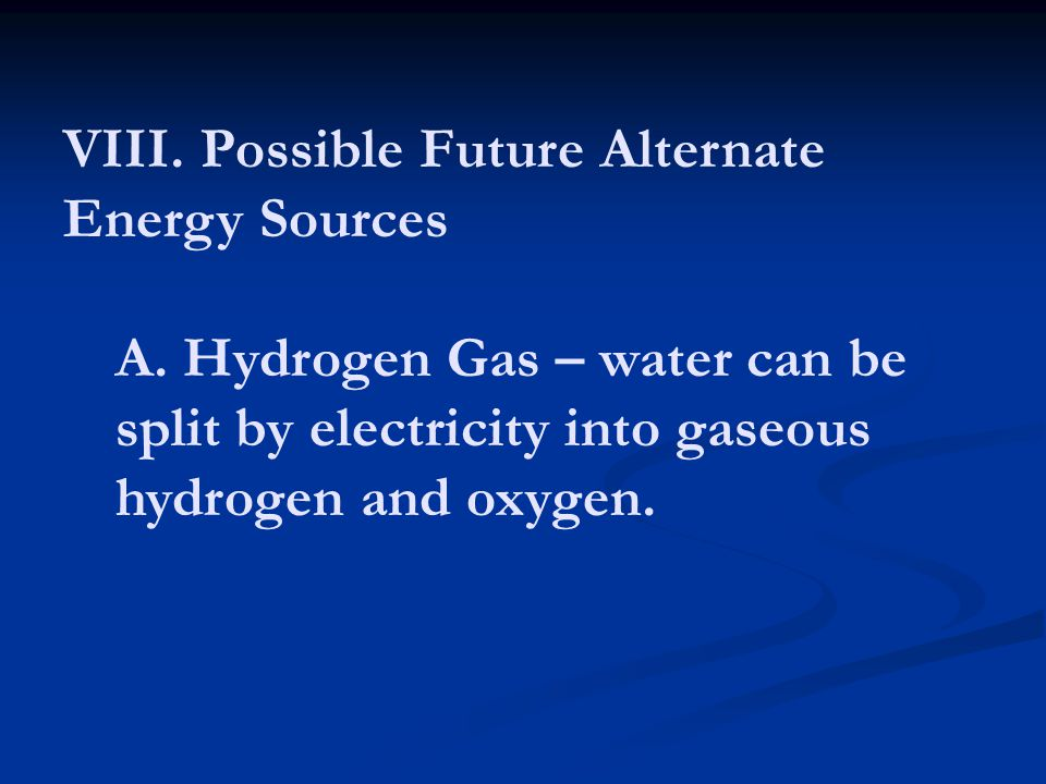 a description of hydrogen on the energy source of the future Hydrogen fuel cells for more than 150 years, scientists have known that when hydrogen and oxygen combine to form water (h2o), the chemical reaction releases energydevices that use a.