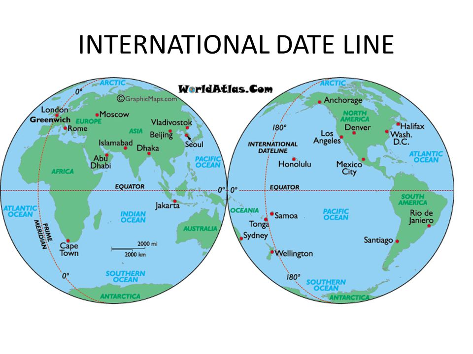 International date line definition in Melbourne