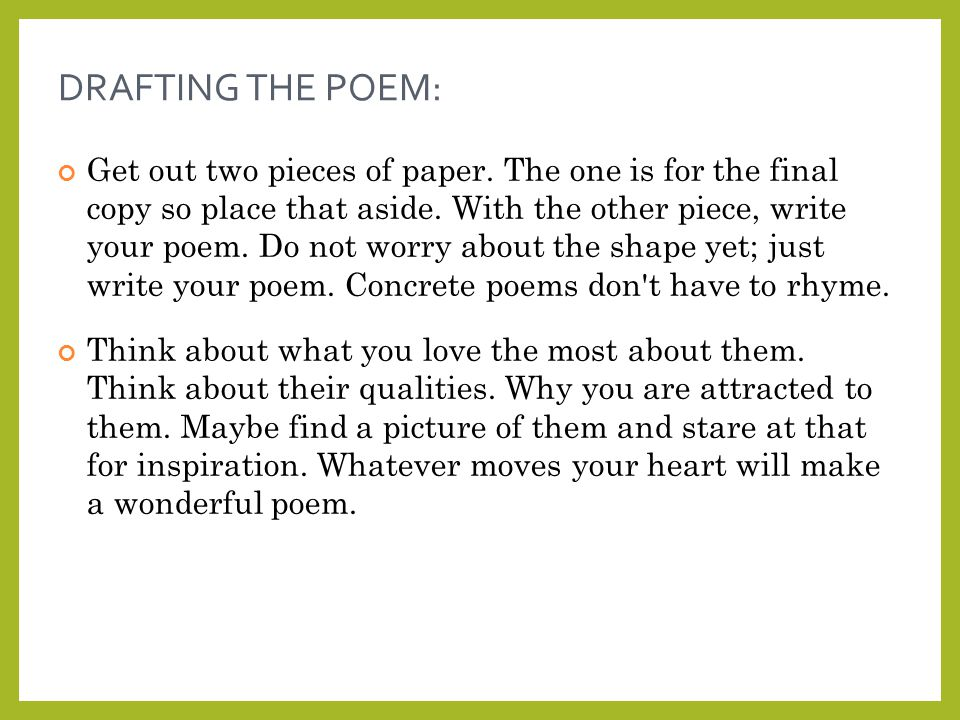 Shape Poems | Examples of Shape Poetry