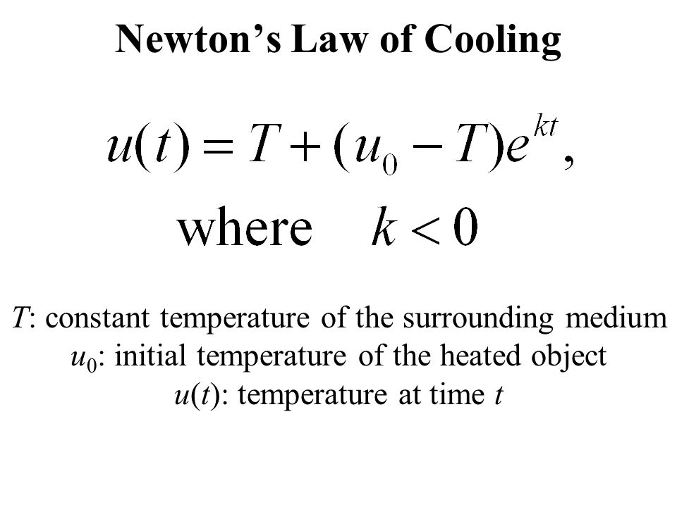 newtons law of cooling Watch world-class tv from britain and beyond always available, always commercial free start your free trial watch trailer description newton's law of cooling: helena recommends a.