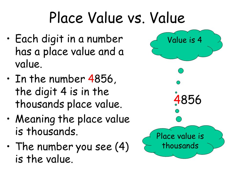 Understanding Place Value. - ppt download