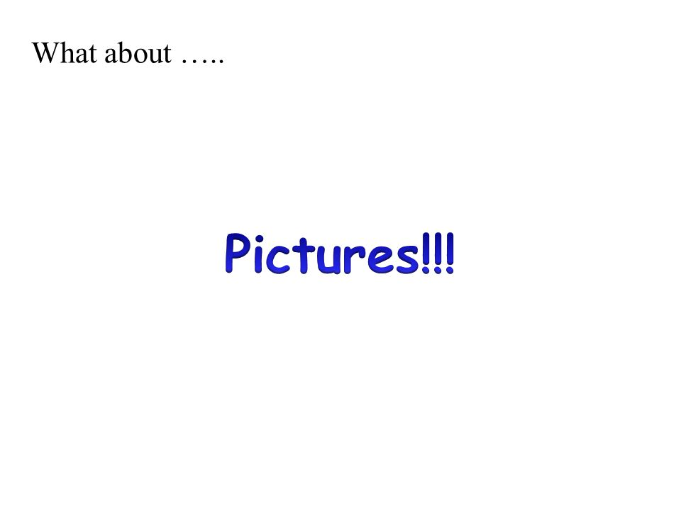 What about ….. Pictures!!!