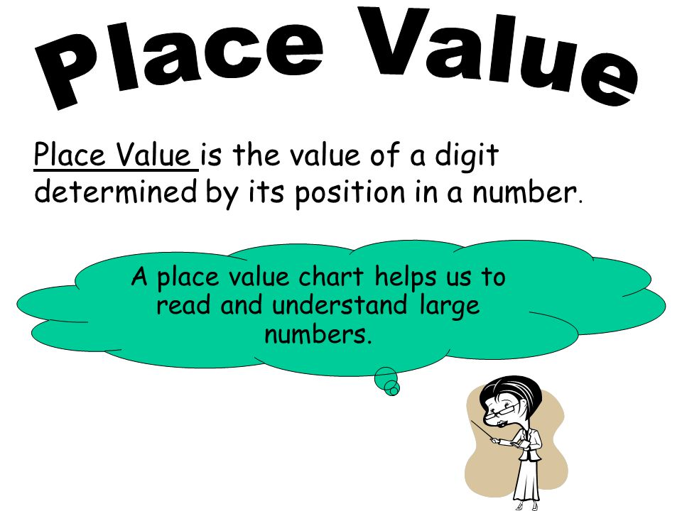 A place value chart helps us to read and understand large numbers.