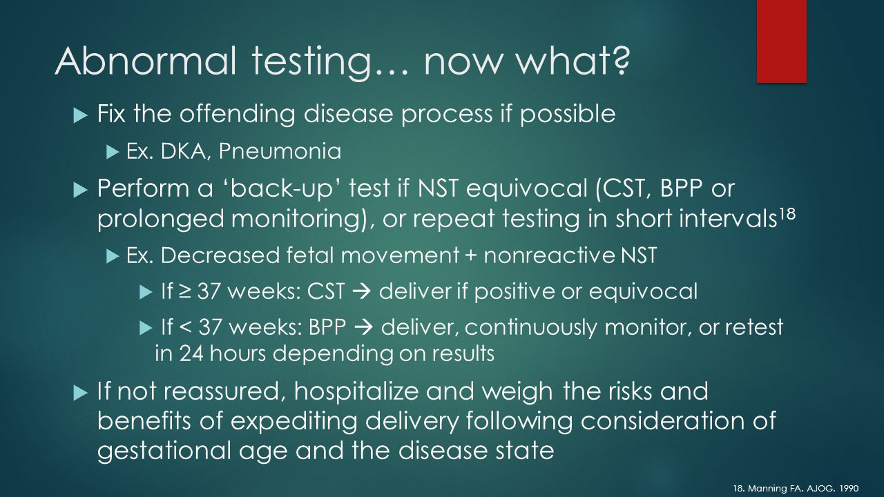 The Nonstress Test Nst And Contraction Stress Test Cst