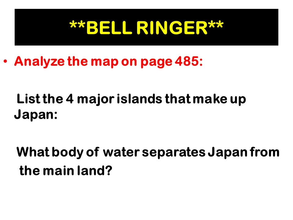 Chapter Section Questions Ppt Download - Japan map questions