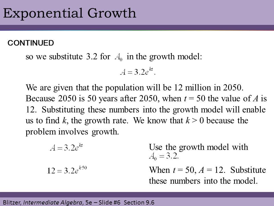 how to find growth factor and growth rate