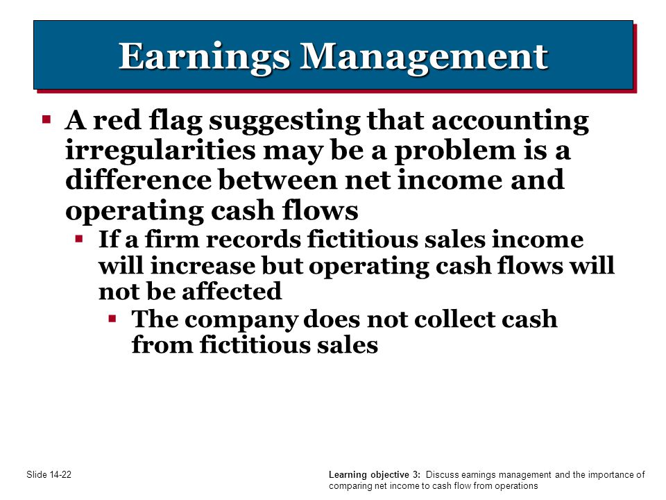 relationship between cash flow and earnings management