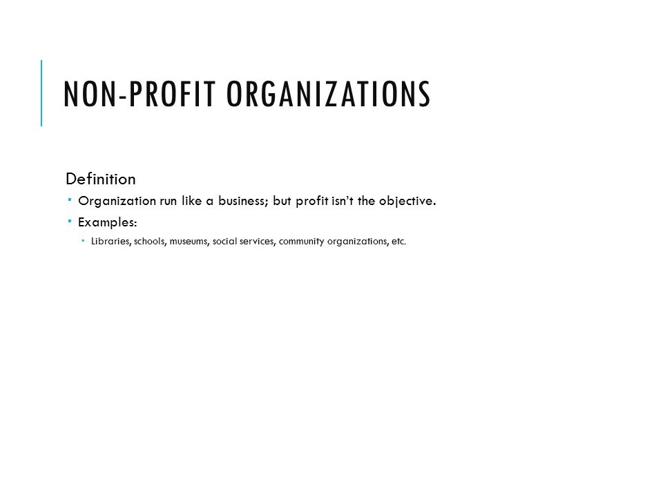 how to call non-profit organization
