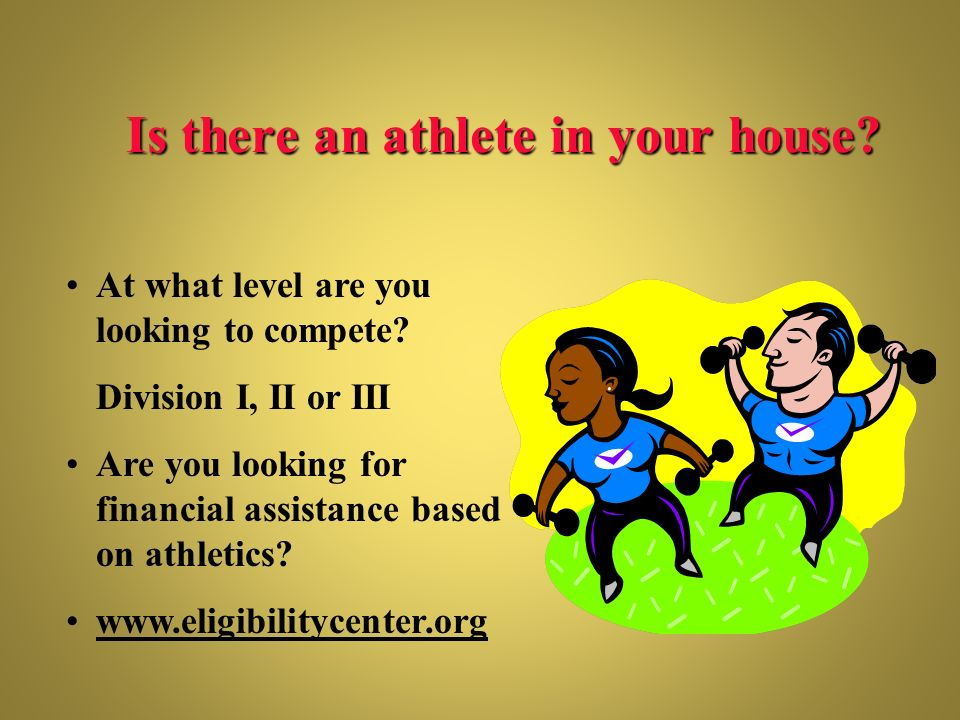 Is there an athlete in your house