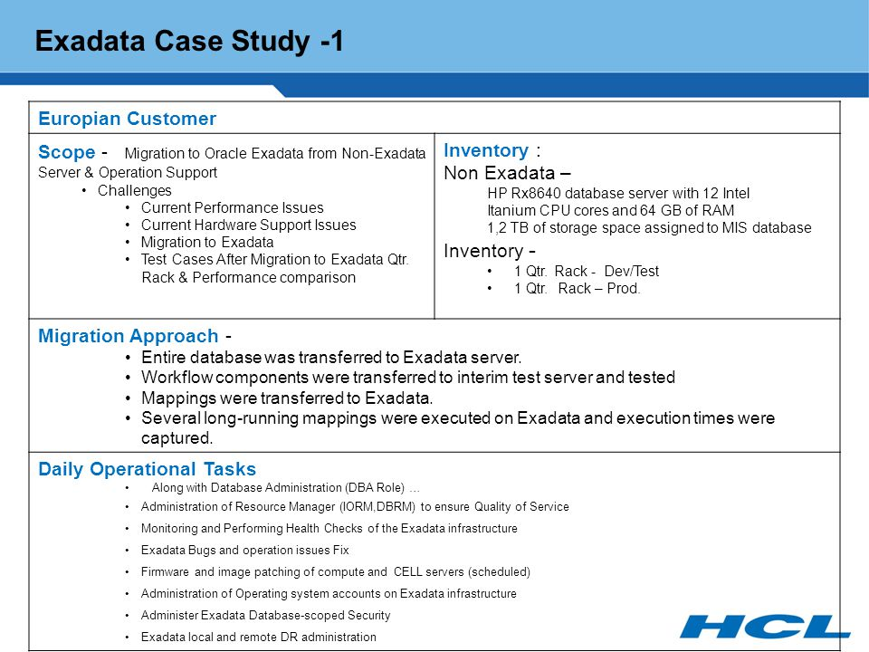 oracle customer case studies Discover our latest case studies and customer success stories across various industries case studies accelerators ennable ennassist established in 2003, ennvee is a global professional services firm that provides oracle application management, business, and technology consulting services.