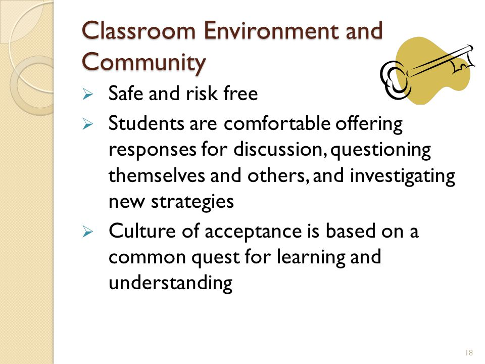 Classroom Environment and Community
