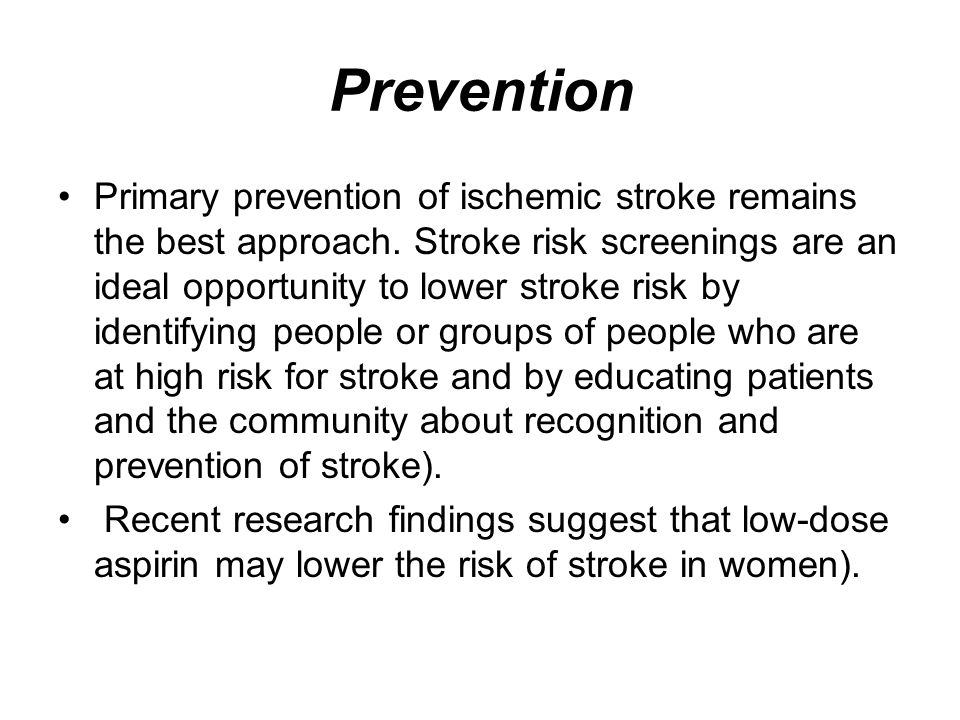 stroke strategies for primary prevention Overview of primary prevention of coronary heart disease and which includes coronary heart disease (chd), stroke a polypill strategy to improve global.