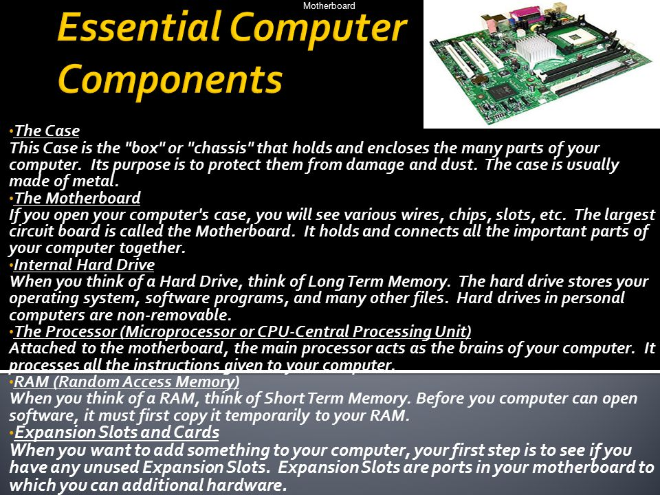 Essential Computer Components