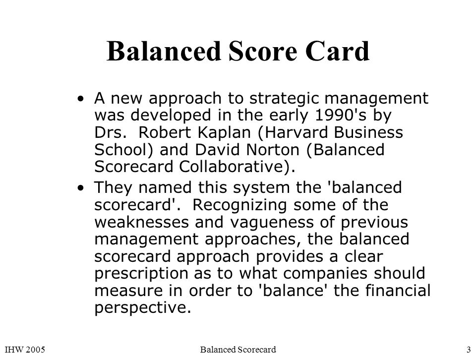 balance score card in management accounting Balanced scorecard: success without the balanced scorecard success without the pitfalls management accounting based systems that were largely based.