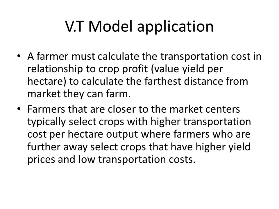 application of von thunen model in Full-text paper (pdf): application of the von thünen model in determining optimal locations to transport compost for crop production outside of yaoundé, cameroon.