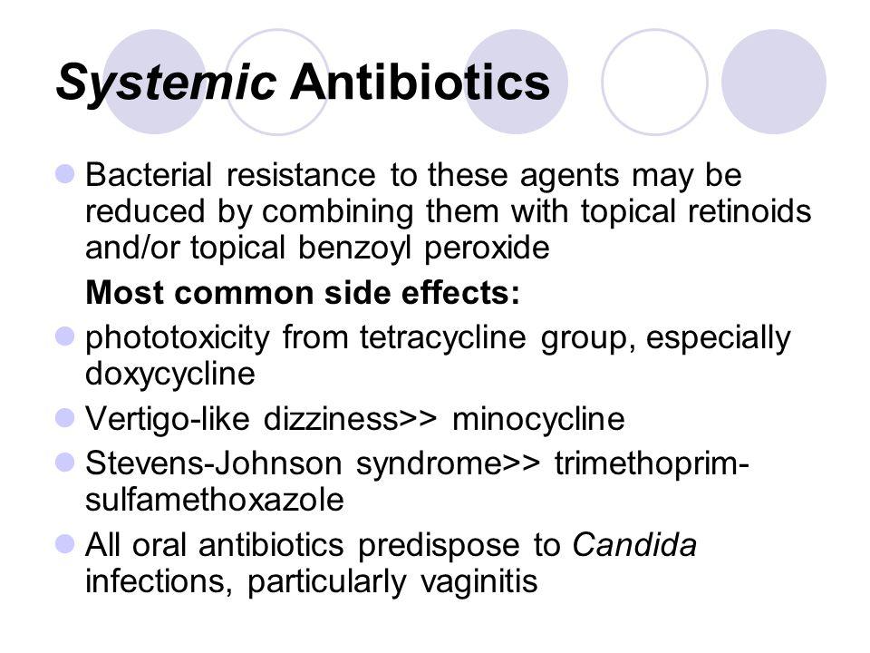 Minocycline Side Effects Dizziness