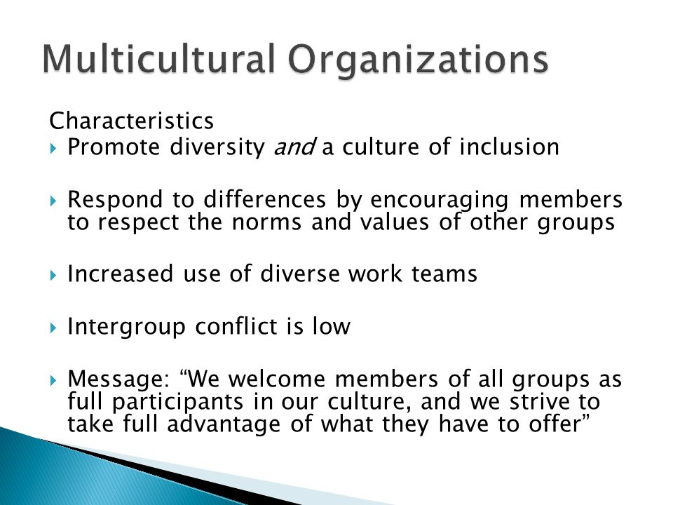 multicultural teams in organizations management essay Competencies for a manager of multicultural teams  organizations nowadays these  experiences from managers of kpmg vietnam concerning management of a .
