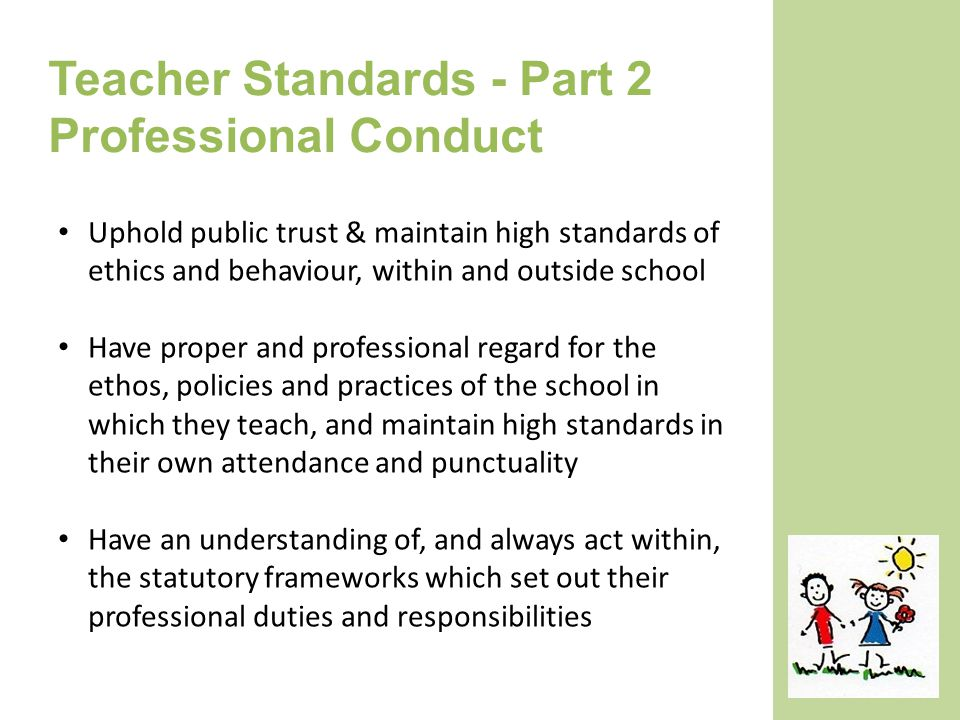 Standards of Performance and Conduct for Teachers