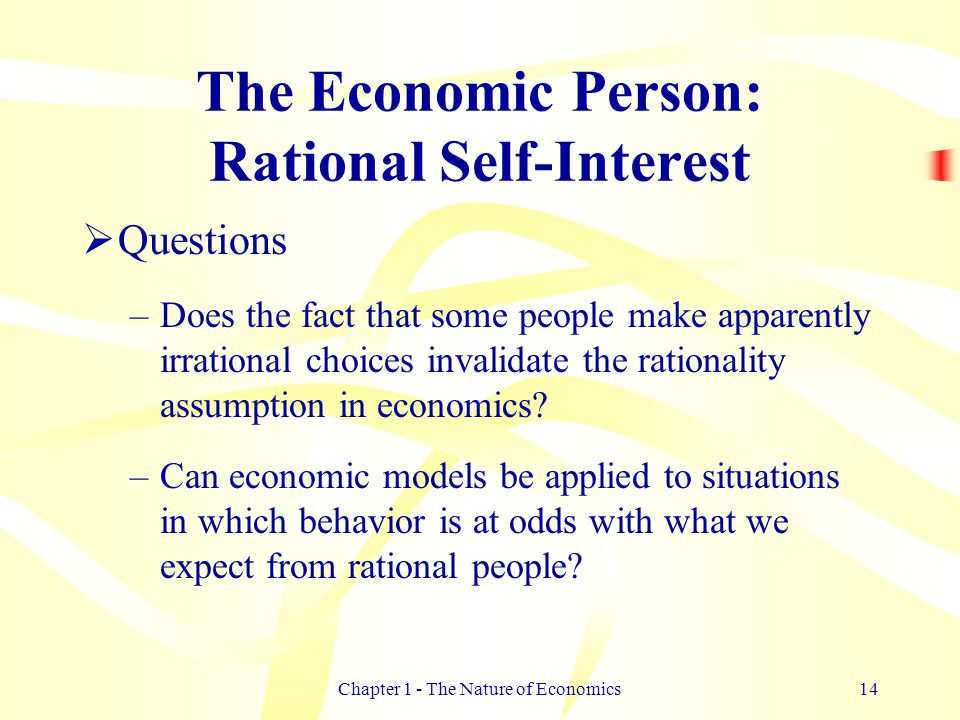 """the economic rationality assumption essay How fundamental is the rationality assumption  if we need to amend our thinking about economic processes  true and false"""" essay."""