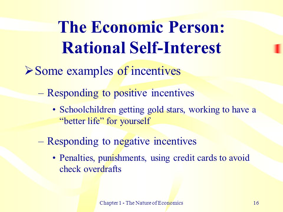 economics and rational people Supplementary resources for college economics textbooks on margins and thinking at the margin  why do chickens get to have fun but people don't.