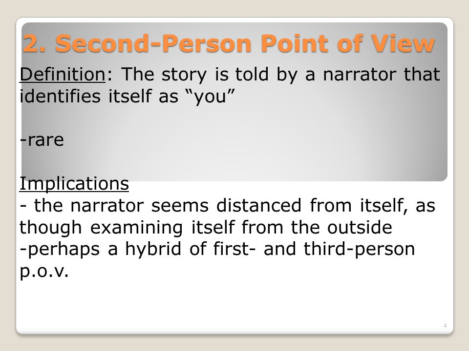 Narrative Perspective Point Of View Ppt Download