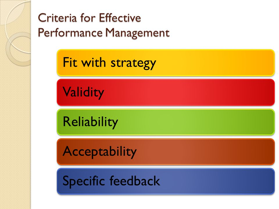 strategies to train raters for performance feedback When the emphasis is on managing—rather than primarily judging—performance, frequent feedback to performers allows for correction of performance deficiencies before the summary appraisal is made  performance rating act  provided for training to improve performance and to prepare for future advancement.