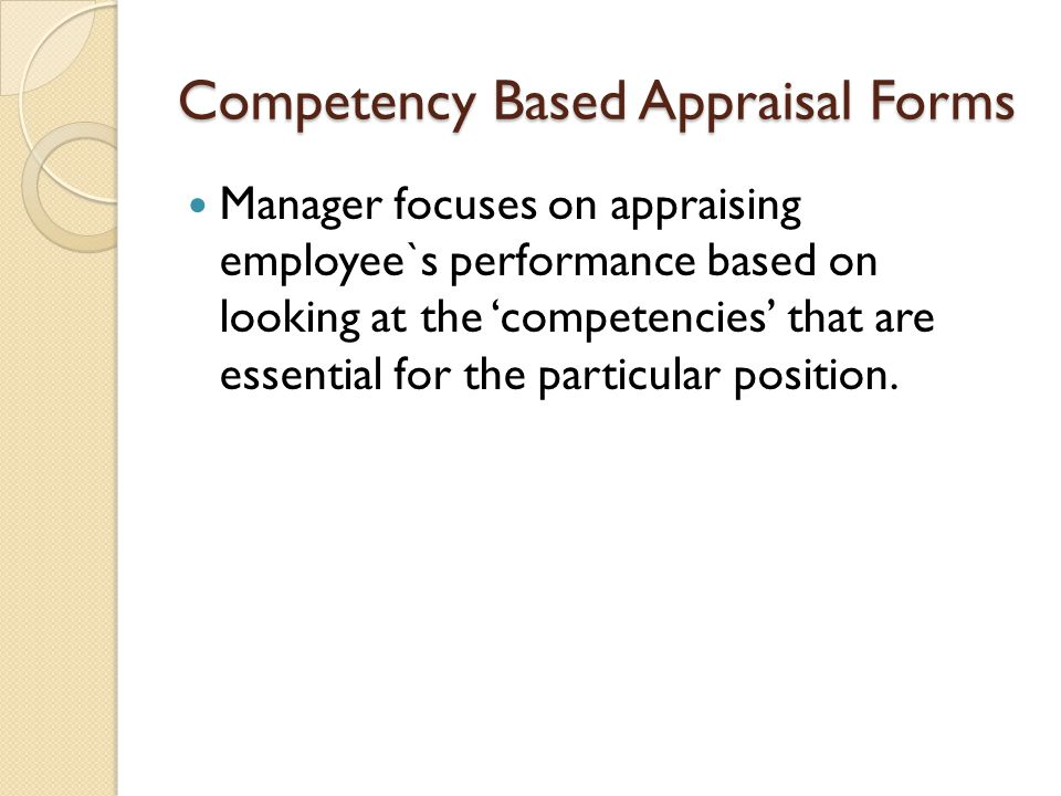 Understanding the Competency-based Performance Review