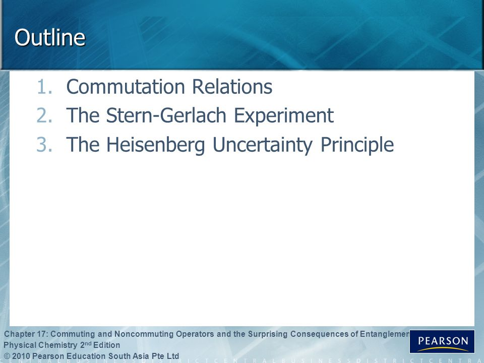 Outline Commutation Relations The Stern-Gerlach Experiment