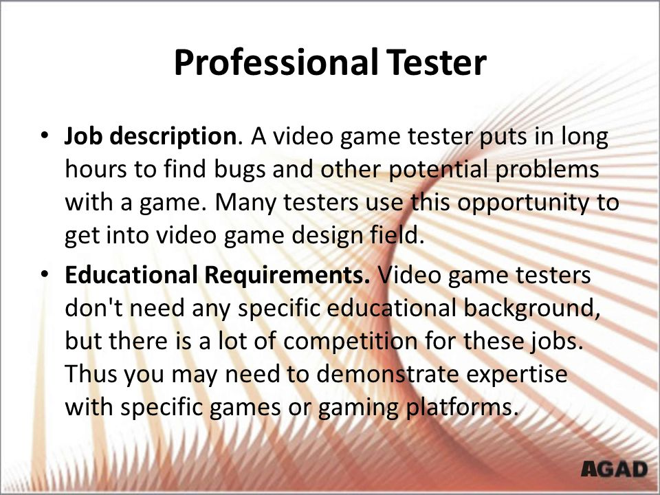 Professional Tester