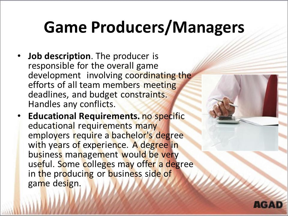 Game Producers/Managers
