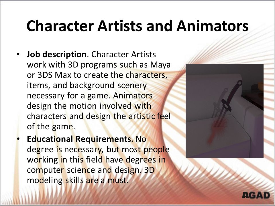 Character Artists and Animators