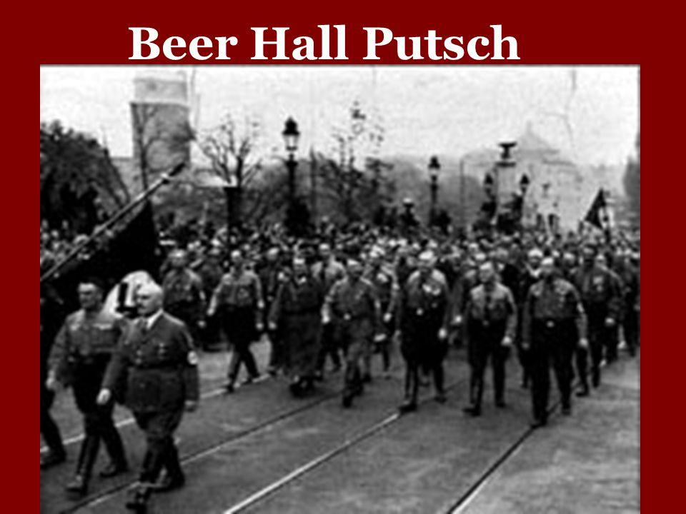 the munich putsh 1923 Se conoce como putsch de múnich o putsch de la cervecería al fallido intento de golpe de estado del 8 y 9 de noviembre de 1923 en munich, llevado a cabo.