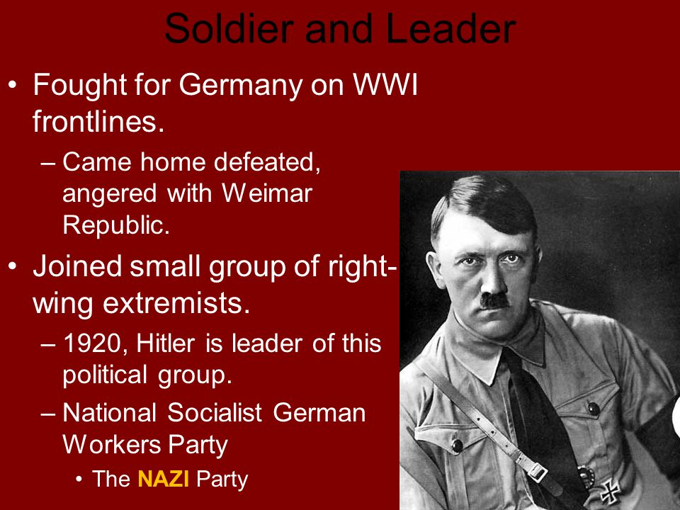 the rise and fall of the national socialist germans workers party in germany Why nazism was socialism and why socialism is totalitarian 0 views the identification of nazi germany as a socialist state was one of the many great contributions of ludwig von mises the national socialist german workers' party mises's identification might not appear all that.