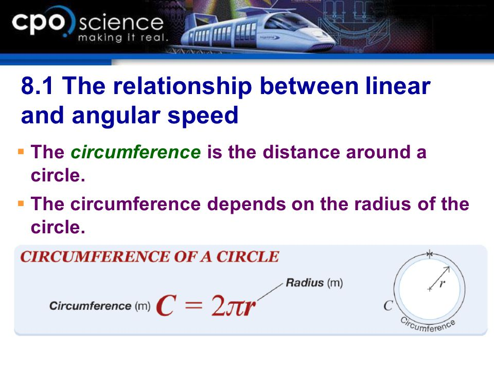 what is the relationship between tangential speed and distance