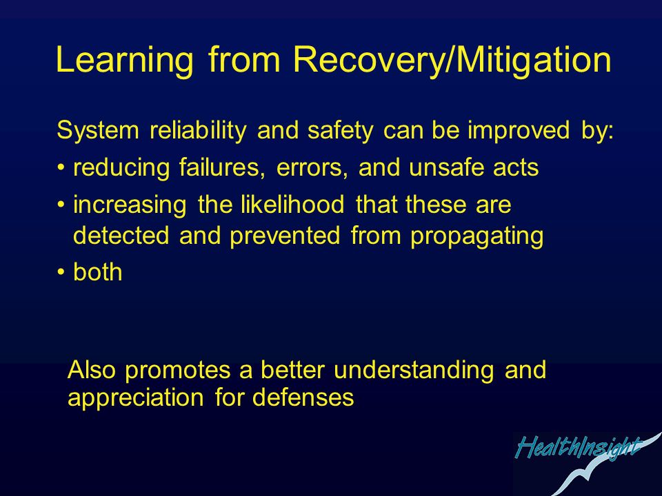 Learning from Recovery/Mitigation