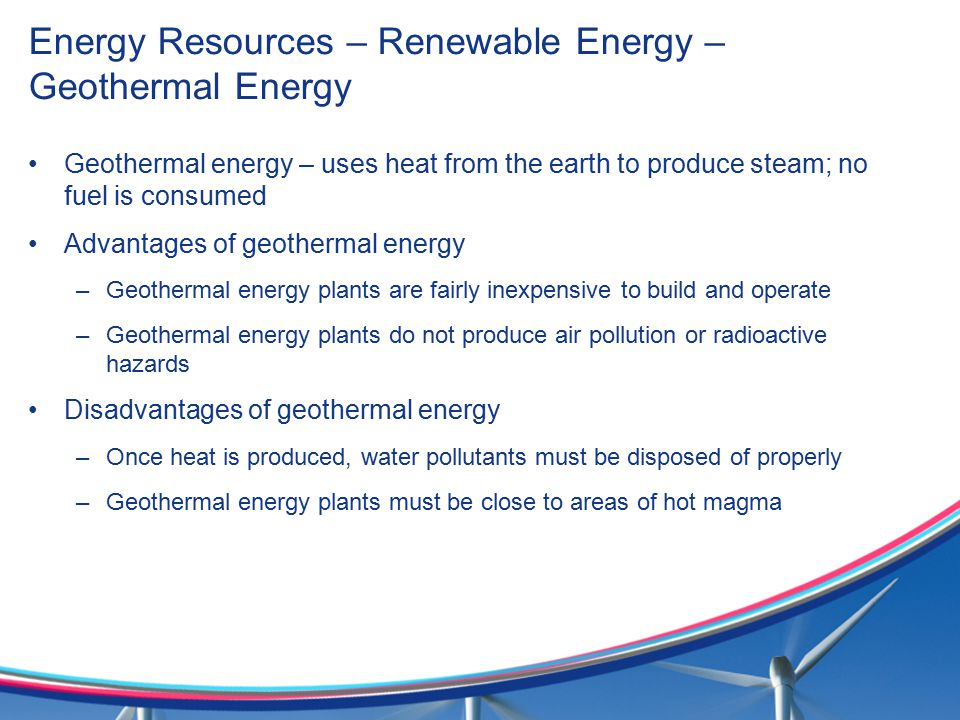Energy Resources – Renewable Energy – Geothermal Energy