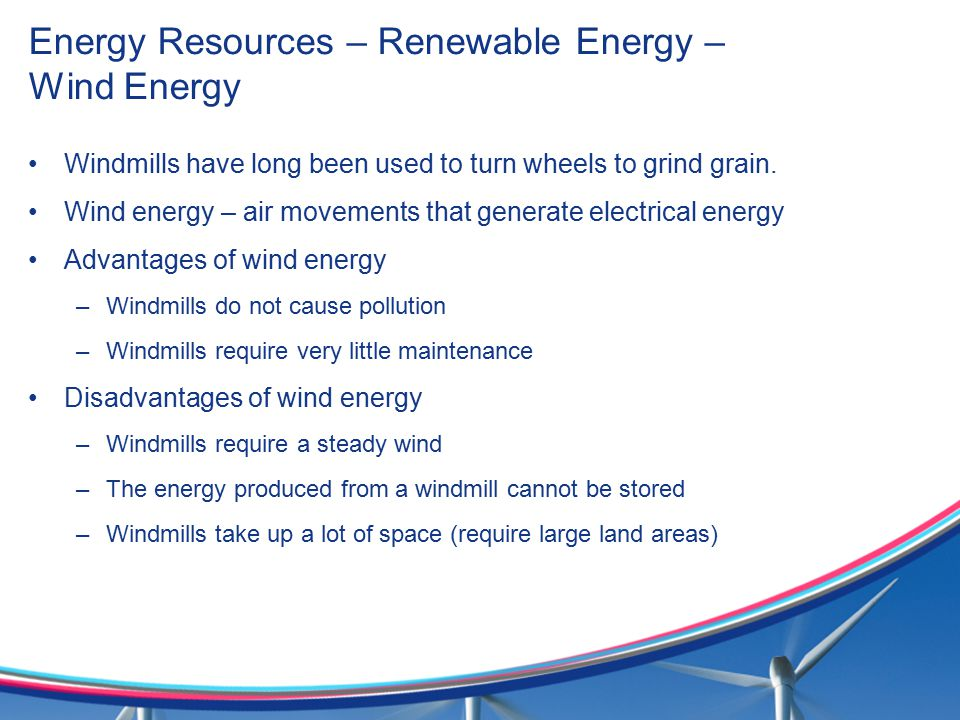 Energy Resources – Renewable Energy – Wind Energy