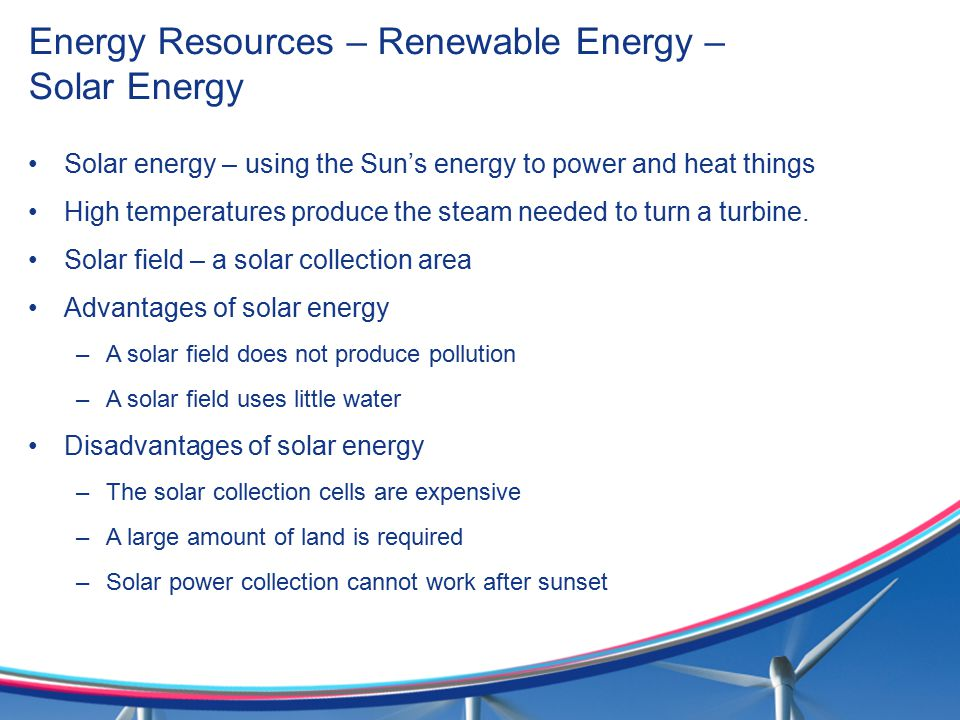 Energy Resources – Renewable Energy – Solar Energy