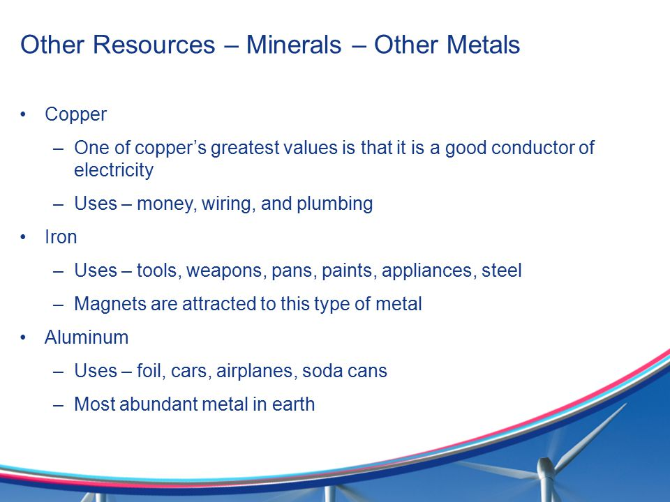 Other Resources – Minerals – Other Metals