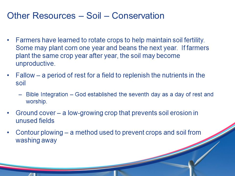 Other Resources – Soil – Conservation