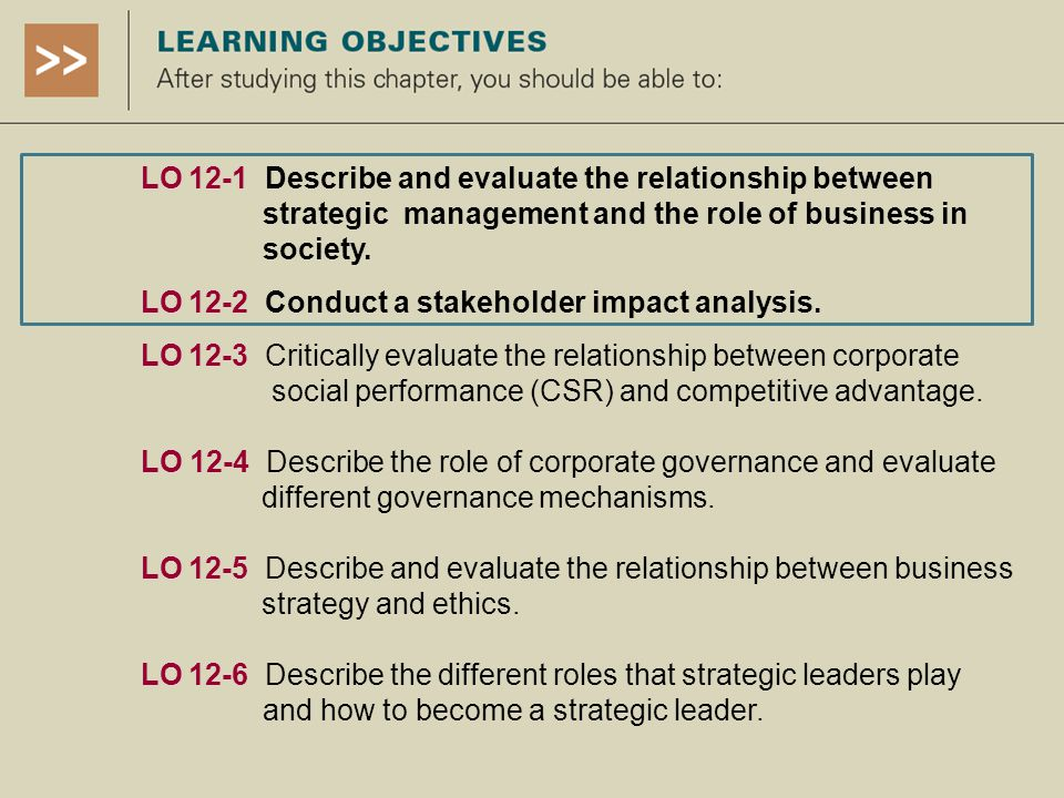 relationship between objectives strategy and police The links between mission, corporate objectives and attention to the relationships between is focused around mission, corporate objectives and strategy.