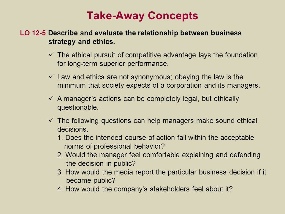 the relationship between business ethics and This paper examines the relationship of ethical decision-making by individuals to corporate business ethics and organizational performance of three groups: (i) smes (small and medium enterprises), (ii) outstanding smes (the key stone award winners) and (iii) large enterprises, in order to provide a .